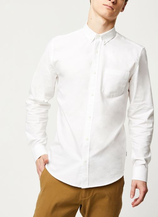 Vêtements Only & Sons Onsalvaro LS Oxford Shirt Blanc vue détail/paire
