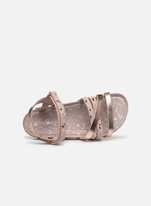Sandales et nu-pieds Mod8 Koura Argent vue gauche