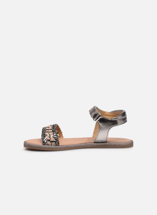 Sandalias Mod8 Pakaza Oro y bronce vista de frente