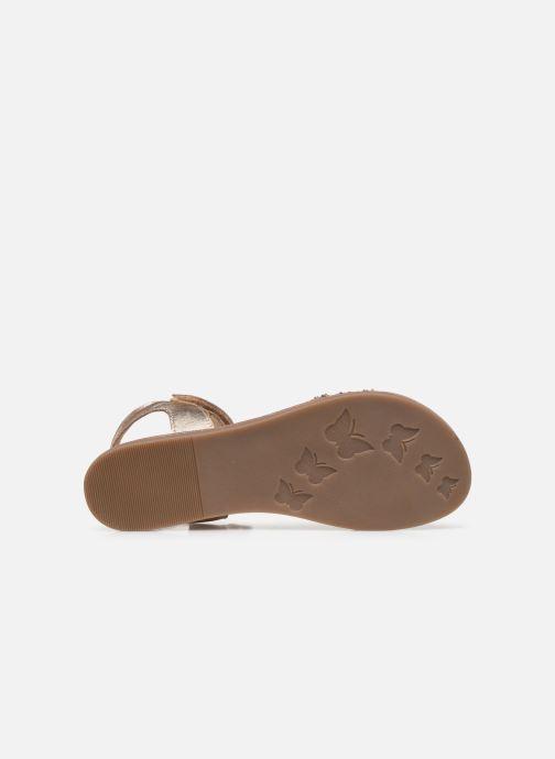 Sandalias Mod8 Pakaza Oro y bronce vista de arriba