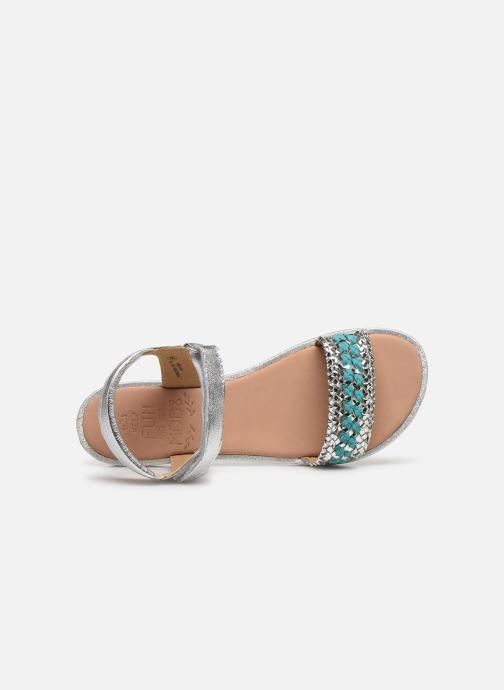 Sandales et nu-pieds Mod8 Pakaza Argent vue gauche