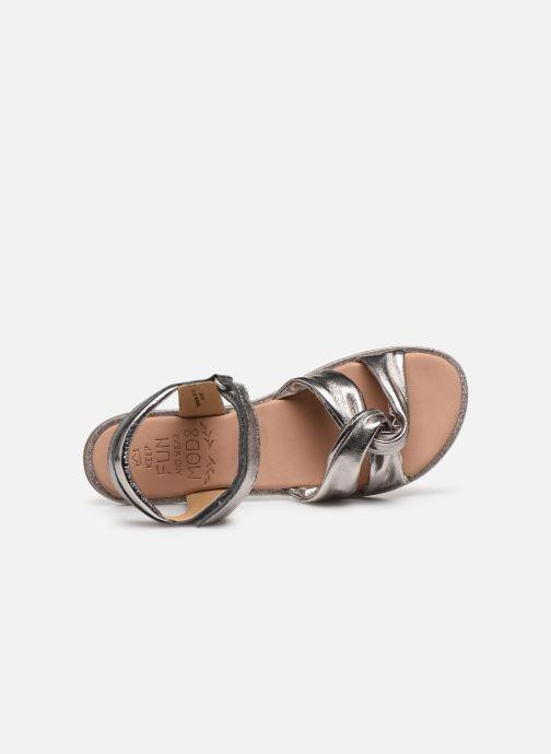 Sandales et nu-pieds Mod8 Patayana Or et bronze vue gauche