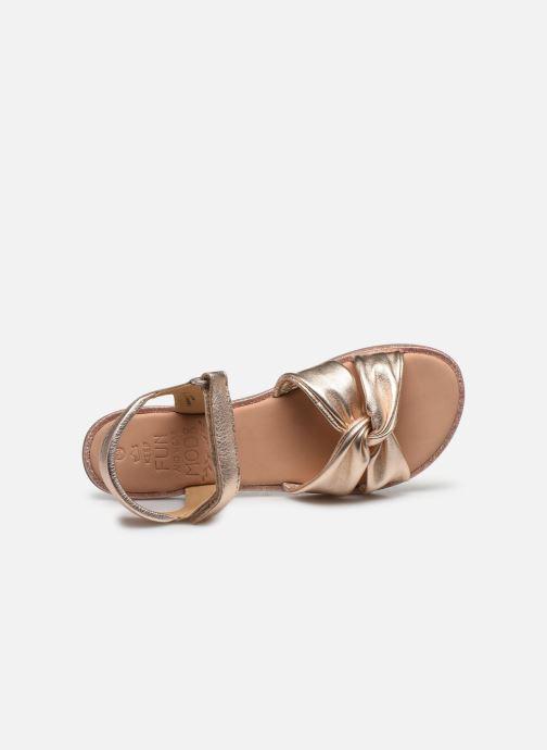 Sandales et nu-pieds Mod8 Patayana Argent vue gauche