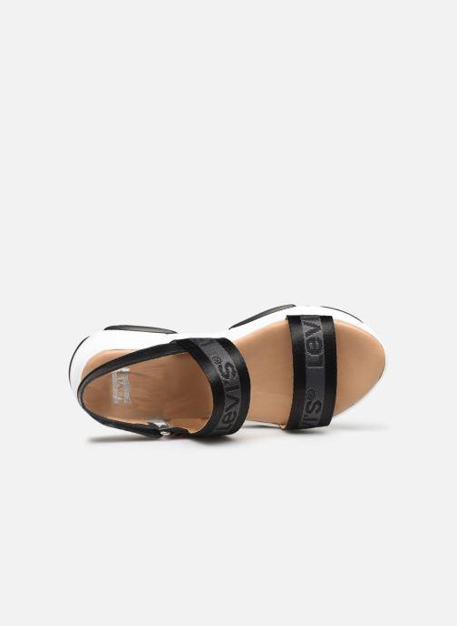 Sandales et nu-pieds Levi's Lagunita Noir vue gauche