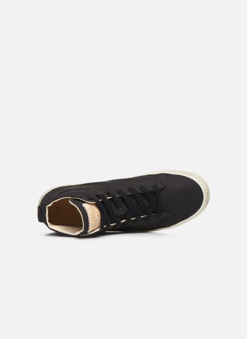 Sneaker Levi's Sherwood High schwarz ansicht von links