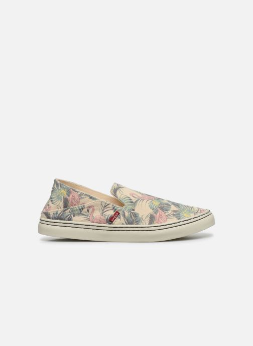 Baskets Levi's Sherwood Slip On Beige vue derrière