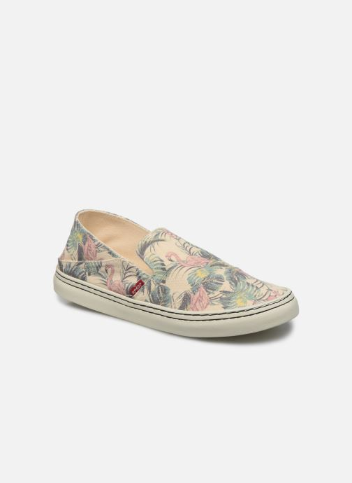 Baskets Levi's Sherwood Slip On Beige vue détail/paire