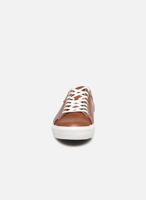 Baskets Levi's Woodward Marron vue portées chaussures
