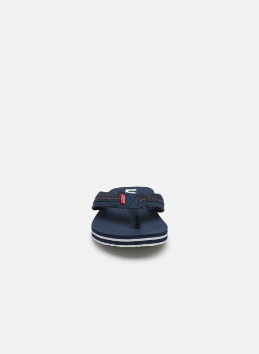 Zehensandalen Levi's Mendocino_L blau schuhe getragen