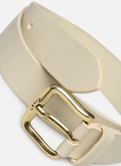 Ceintures Levi's Irena Icon Belt Blanc vue portées chaussures