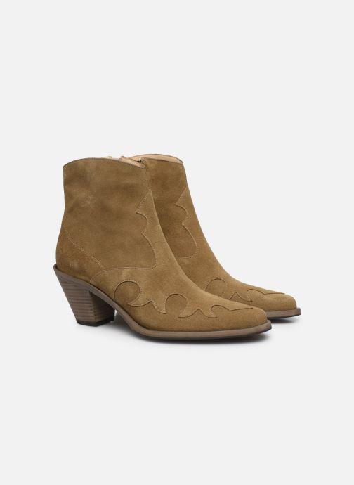 Bottines et boots Free Lance JANE 7 WESTERN ZIP BOOT Beige vue 3/4