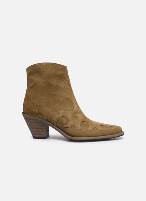 Bottines et boots Free Lance JANE 7 WESTERN ZIP BOOT Beige vue derrière