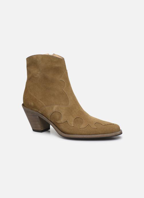 Bottines et boots Free Lance JANE 7 WESTERN ZIP BOOT Beige vue détail/paire