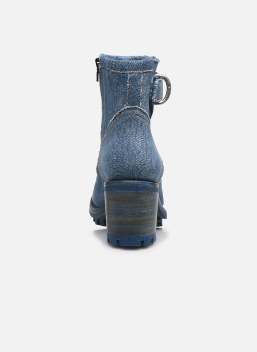 Botines  Free Lance UPCYCLING - JUSTY 7 SMALL GERO BUCKLE Azul vista lateral derecha