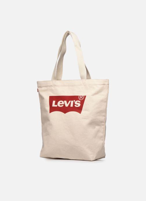Sacs à main Levi's Batwing Tote W Blanc vue portées chaussures