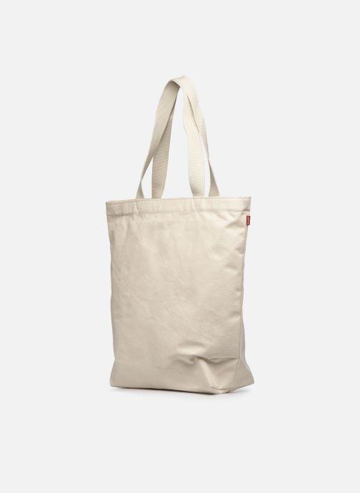 Handtaschen Levi's Batwing Tote W weiß ansicht von rechts