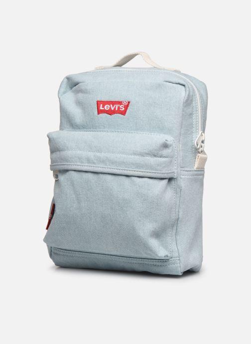 Sacs à dos Levi's The Levi'S® L Pack Baby - Iced Denim Bleu vue portées chaussures