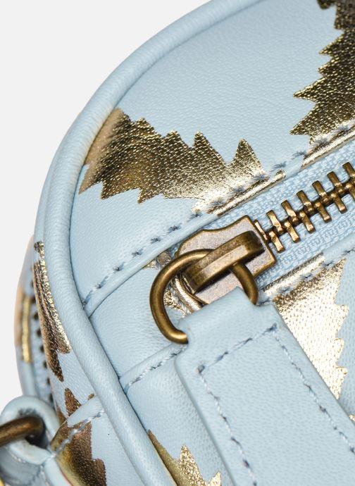 Sacs à main Vivienne Westwood Squiggle Worlds End Came Bleu vue gauche
