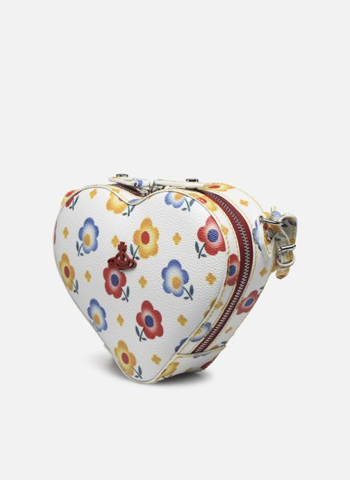 Sacs à main Vivienne Westwood Derby Heart Crossbody Bag Blanc vue portées chaussures