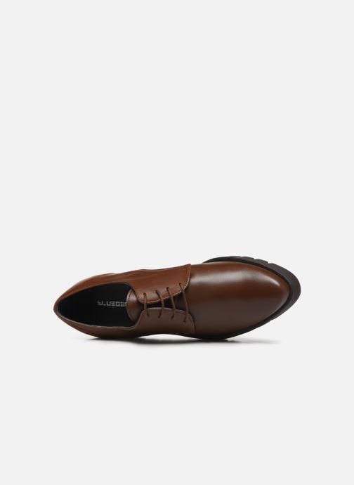Zapatos con cordones Bluegenex B-Gote Blucher Marrón vista lateral izquierda
