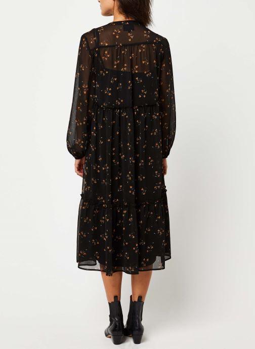 Vêtements OBJECT OBJAVINAJA LS CHIFFON DRESS PB7 Noir vue portées chaussures