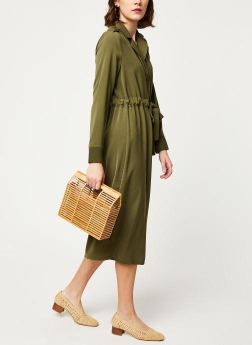 Vêtements OBJECT OBJMAE L/S DRESS A Q Vert vue bas / vue portée sac