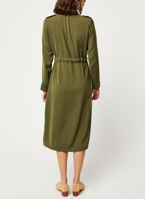 Vêtements OBJECT OBJMAE L/S DRESS A Q Vert vue portées chaussures