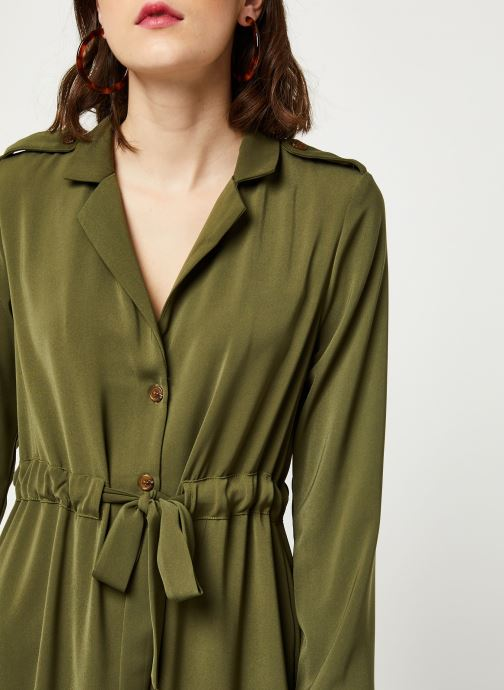 Vêtements OBJECT OBJMAE L/S DRESS A Q Vert vue face