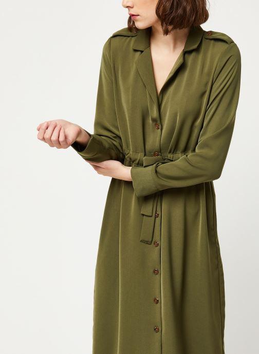 Vêtements OBJECT OBJMAE L/S DRESS A Q Vert vue droite