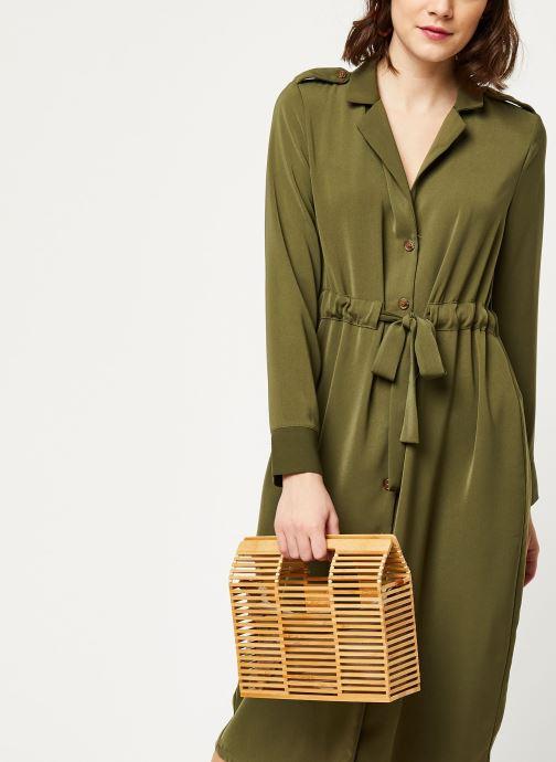 Vêtements OBJECT OBJMAE L/S DRESS A Q Vert vue détail/paire