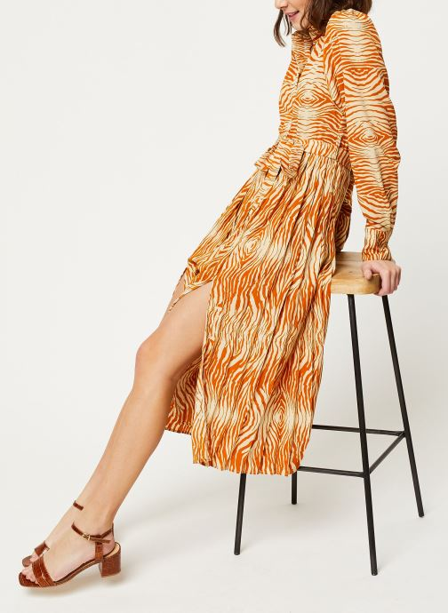 Vêtements OBJECT OBJLEANDRA L/S LONG DRESS A Q Marron vue bas / vue portée sac