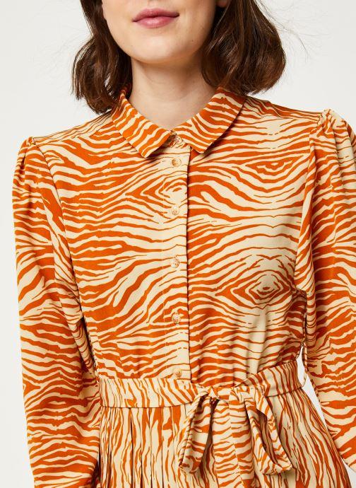 Vêtements OBJECT OBJLEANDRA L/S LONG DRESS A Q Marron vue face