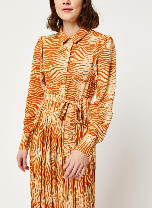 Vêtements OBJECT OBJLEANDRA L/S LONG DRESS A Q Marron vue droite