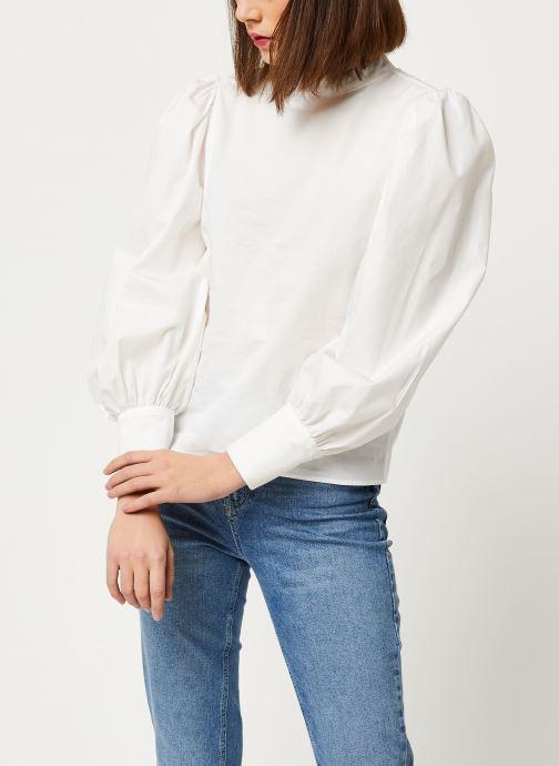 Abbigliamento OBJECT OBJLAJLA LS TOP 107 Bianco vedi dettaglio/paio