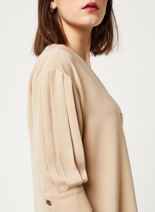 Vêtements OBJECT OBJMAE 3/4 TOP A Q Marron vue face