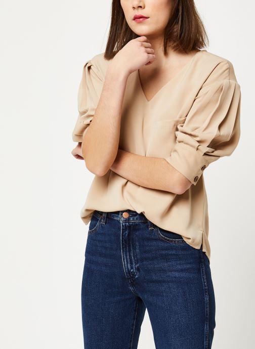 Vêtements OBJECT OBJMAE 3/4 TOP A Q Marron vue détail/paire