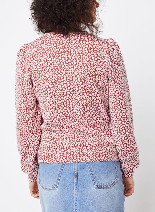Vêtements OBJECT OBJELENA SWEAT PULLOVER 107 Rouge vue portées chaussures
