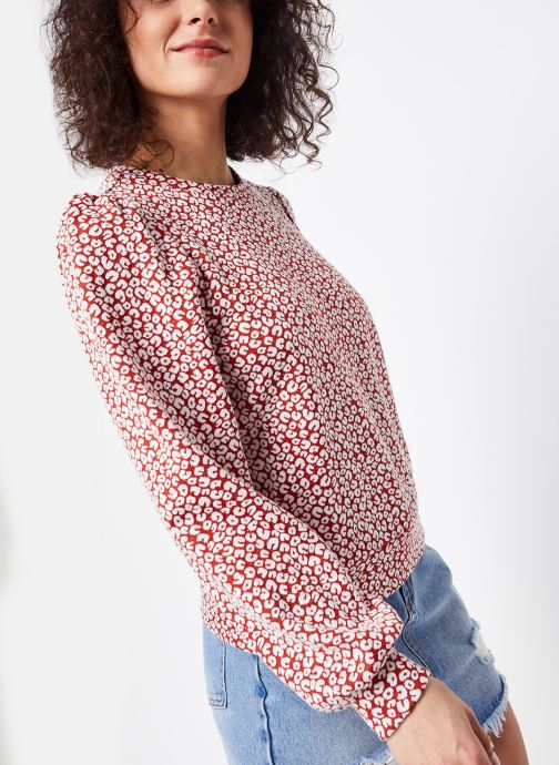 Vêtements OBJECT OBJELENA SWEAT PULLOVER 107 Rouge vue droite