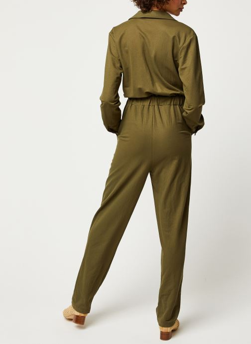 Vêtements OBJECT OBJTHELMA JUMPSUIT 107 Vert vue portées chaussures
