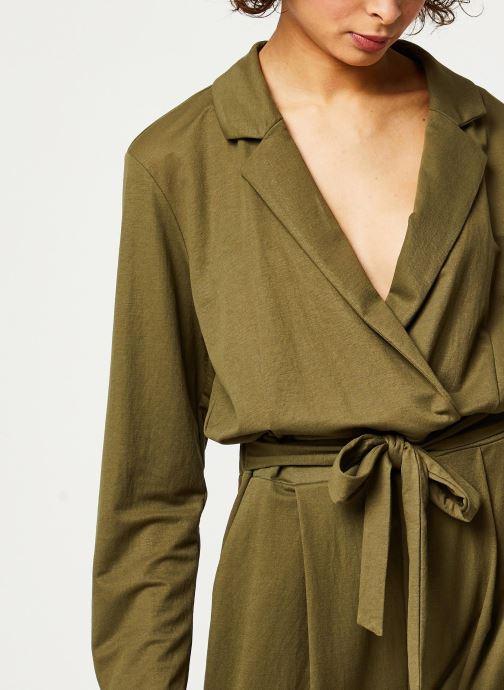 Vêtements OBJECT OBJTHELMA JUMPSUIT 107 Vert vue face