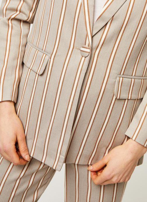 Vêtements OBJECT OBJAMANDA BLAZER 107 Beige vue face