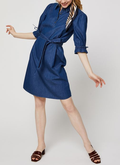 Vêtements OBJECT OBJANNELI 2/4 DRESS PB7 Bleu vue bas / vue portée sac