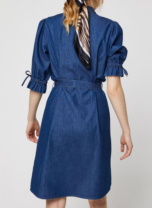 Vêtements OBJECT OBJANNELI 2/4 DRESS PB7 Bleu vue portées chaussures
