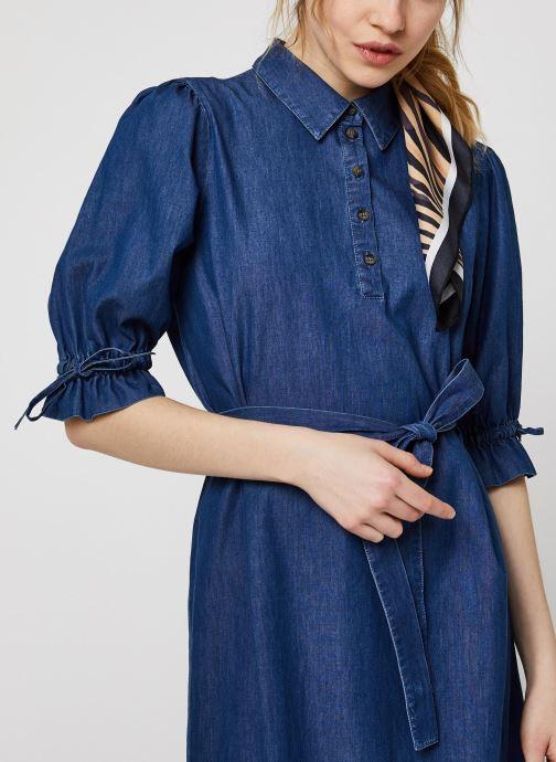 Vêtements OBJECT OBJANNELI 2/4 DRESS PB7 Bleu vue face
