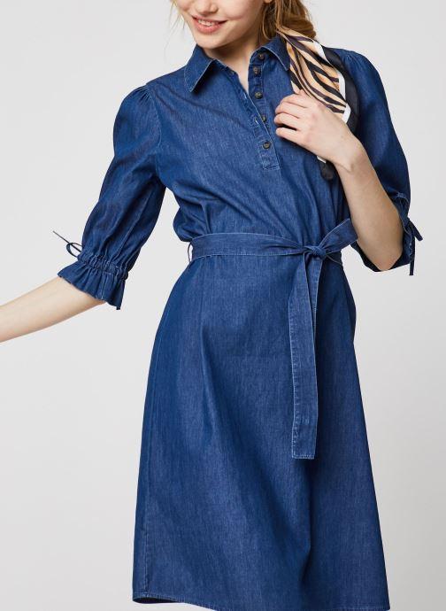 Vêtements OBJECT OBJANNELI 2/4 DRESS PB7 Bleu vue détail/paire