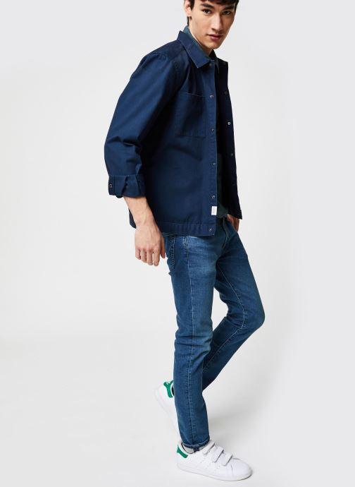 Vêtements Only & Sons Onscris LS Overshirt Bleu vue bas / vue portée sac