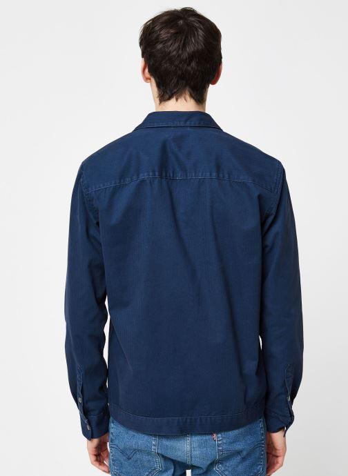 Vêtements Only & Sons Onscris LS Overshirt Bleu vue portées chaussures