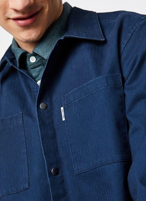 Vêtements Only & Sons Onscris LS Overshirt Bleu vue face