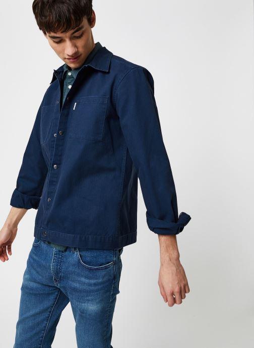 Vêtements Only & Sons Onscris LS Overshirt Bleu vue détail/paire
