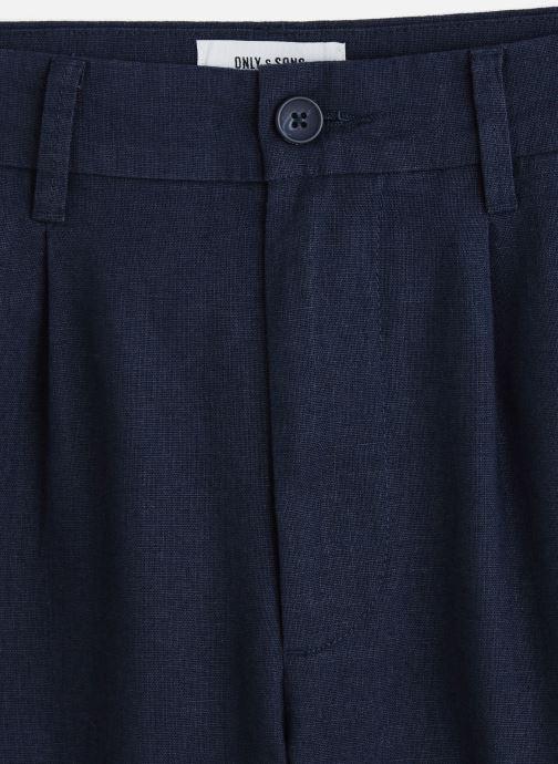 Kleding Only & Sons Onslou Linen Shorts Blauw model